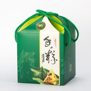 花型棕子包装盒 高档粽子手提礼盒