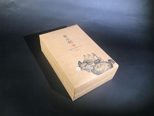 易木和牛皮纸茶叶盒