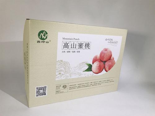 高山蜜桃包装盒 水果包装礼盒