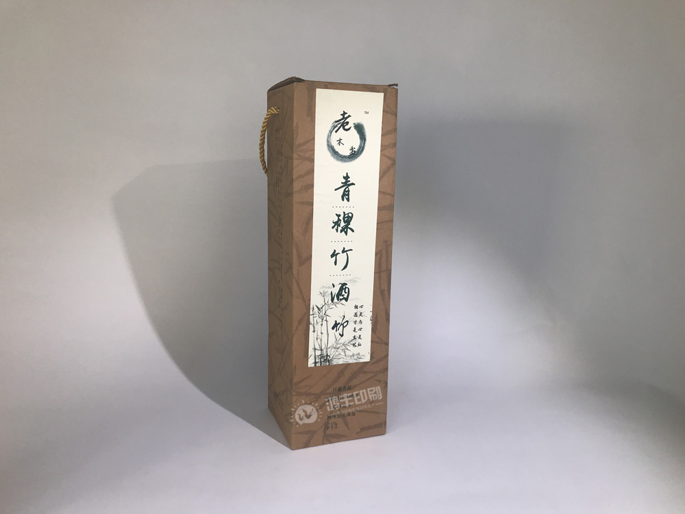 青稞竹酒盒 牛皮瓦楞手提禮盒03.jpg